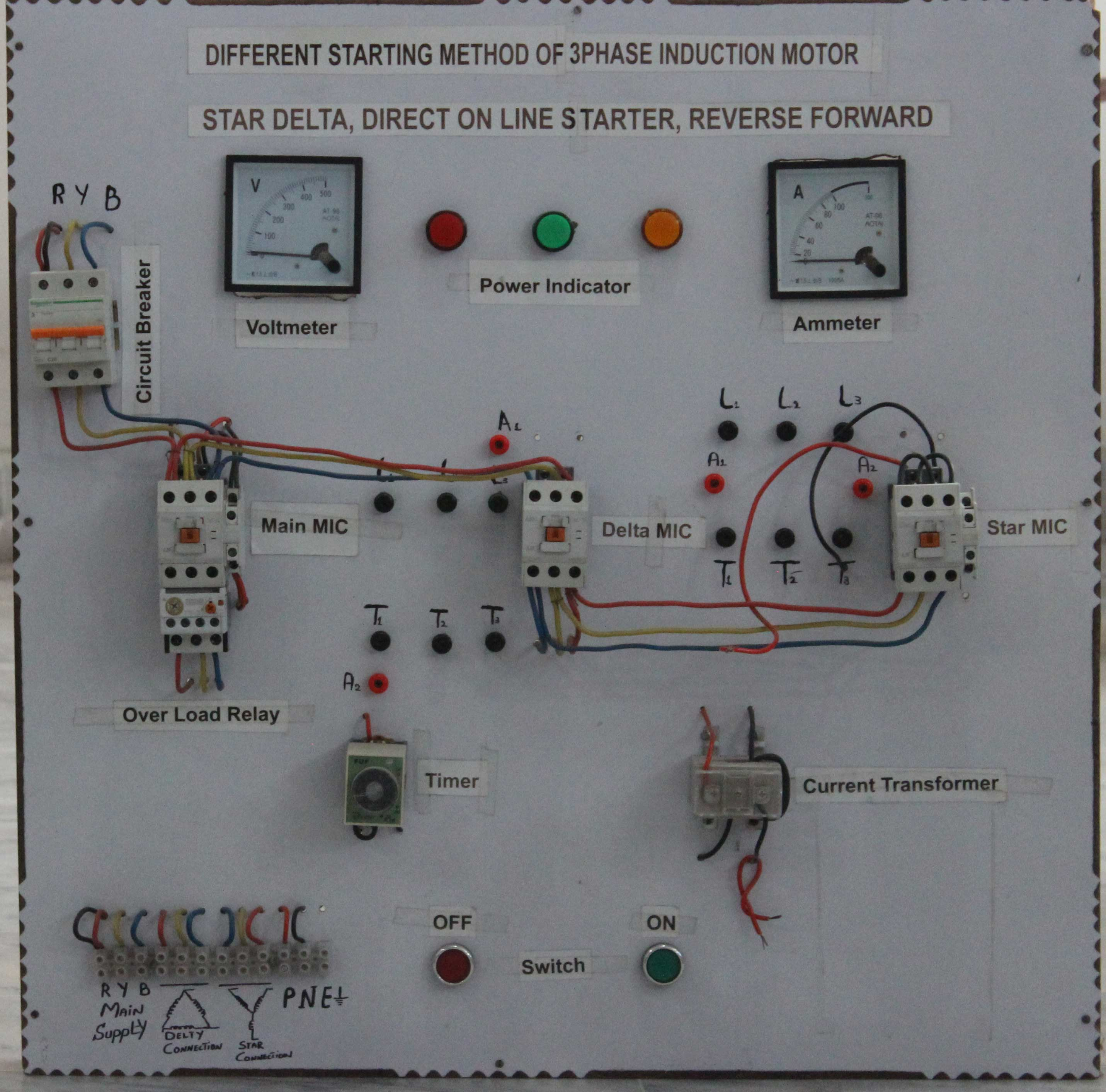Commercial Projects 1 Star Delta Starter Control Wiring Diagram
